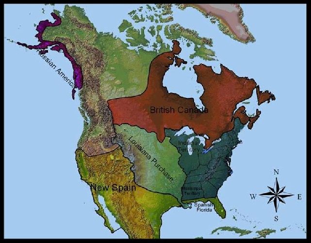 Geopolitical Map - Map of us territories in 1803