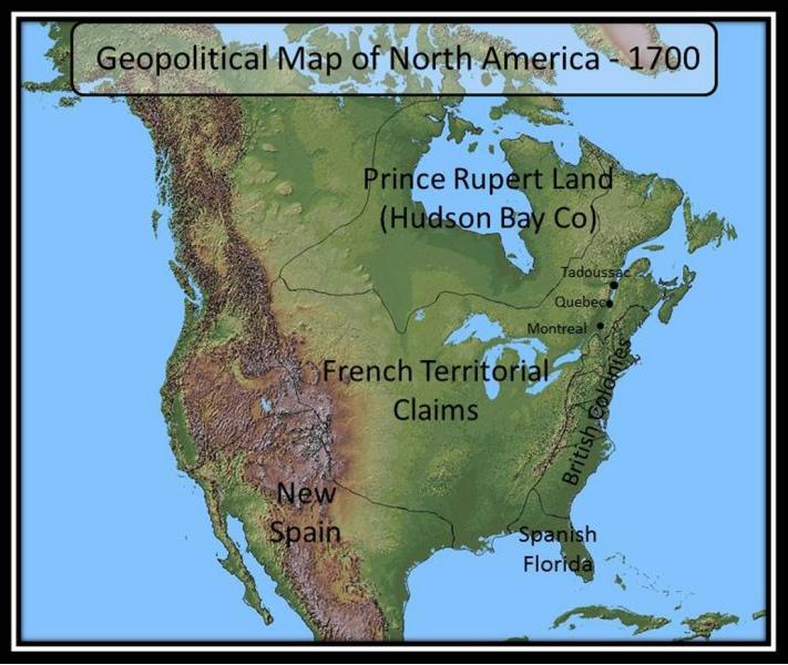 Geopolitical Map 1700